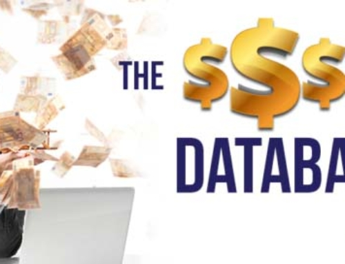 The $$$ is in the database!